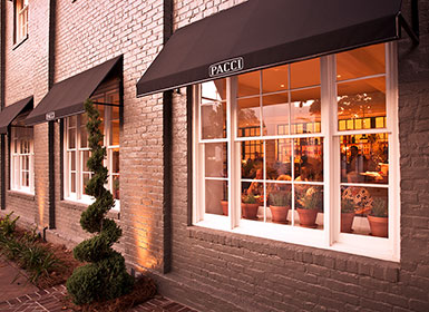Exterior of Pacci Restaurant